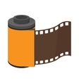 Camera roll icon cartoon style vector image