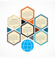 abstract hexagon infographics template vector image