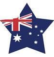 australian flag shape star icon vector image