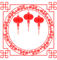 Chinese Paper Cutting Red Lantern Background vector image