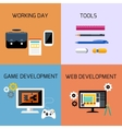 Game web development and business tools icon set vector image