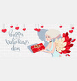 holiday card to the day of saint valentine with vector image
