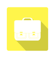 icon classic school bag vector image