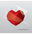 modern geometrical heart background vector image