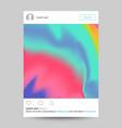 social network photo frame transparent vector image