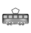 tram sign icon vector image