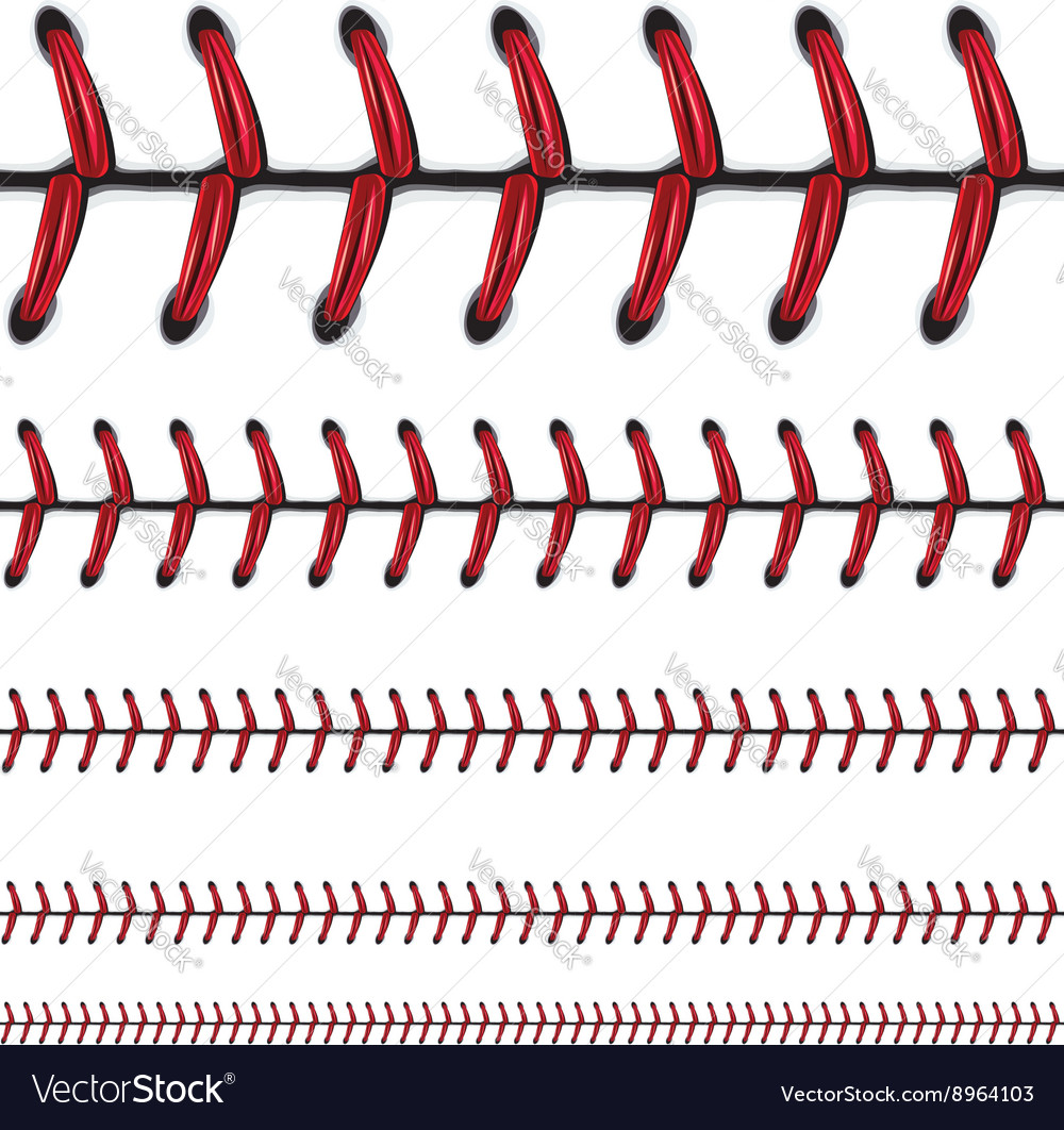 Baseball lace background vector