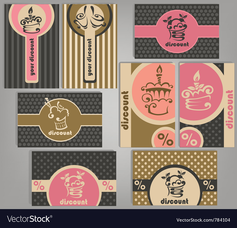 Glamour discount cards vector