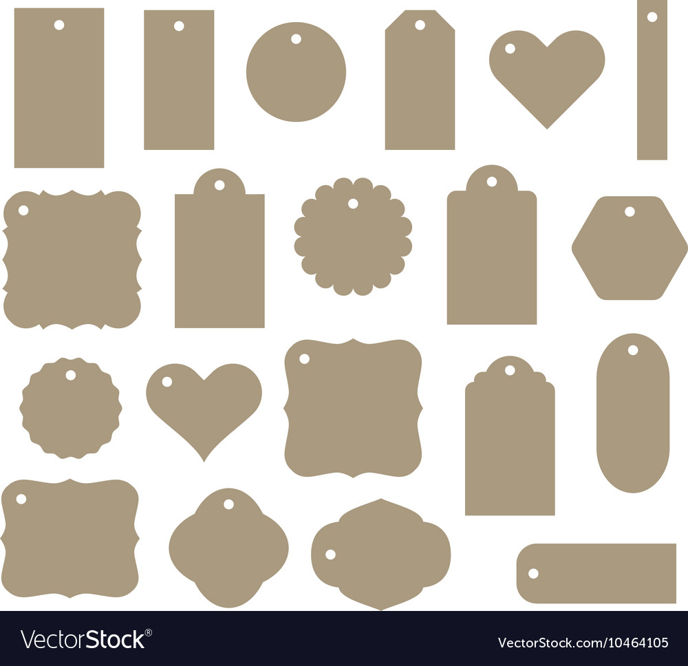 Set of gift tag discount label twenty vector