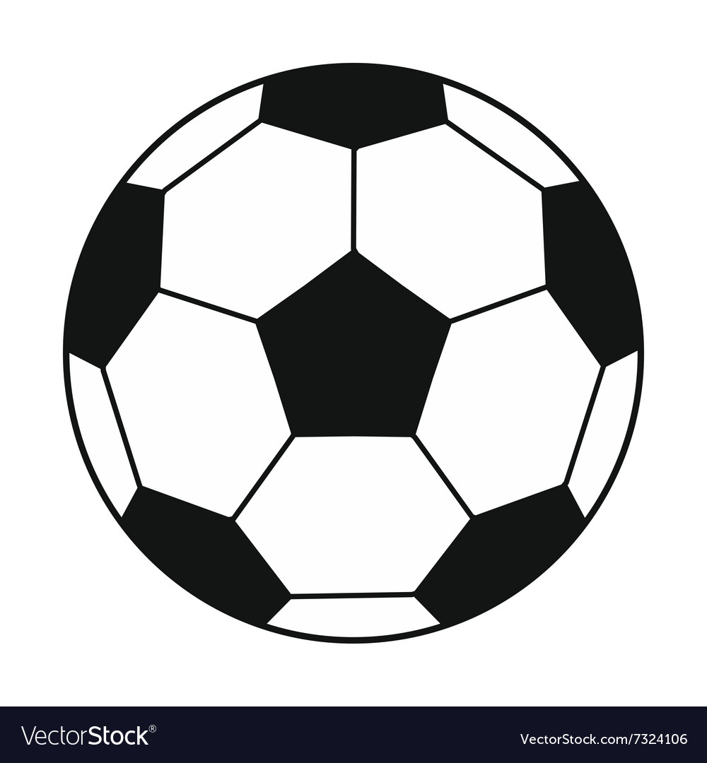 Soccer ball black simple icon vector