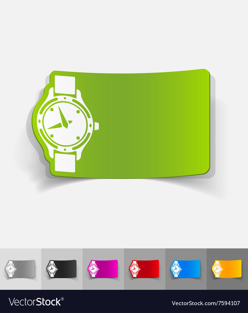Realistic design element watch vector