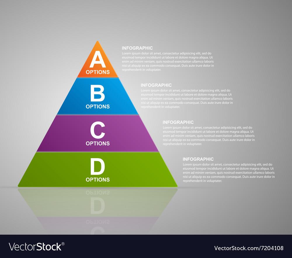 Infographic pyramid web design template vector