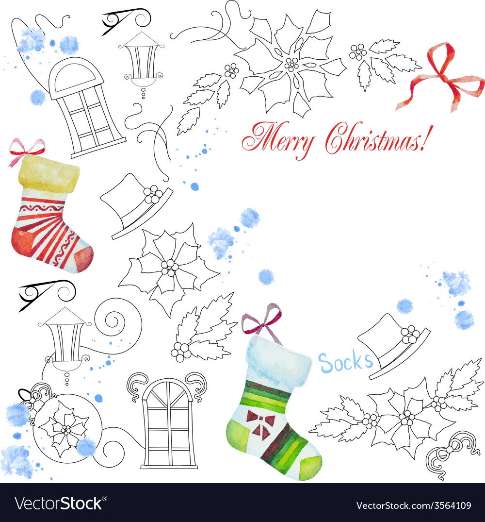 Background with christmas things04 vector