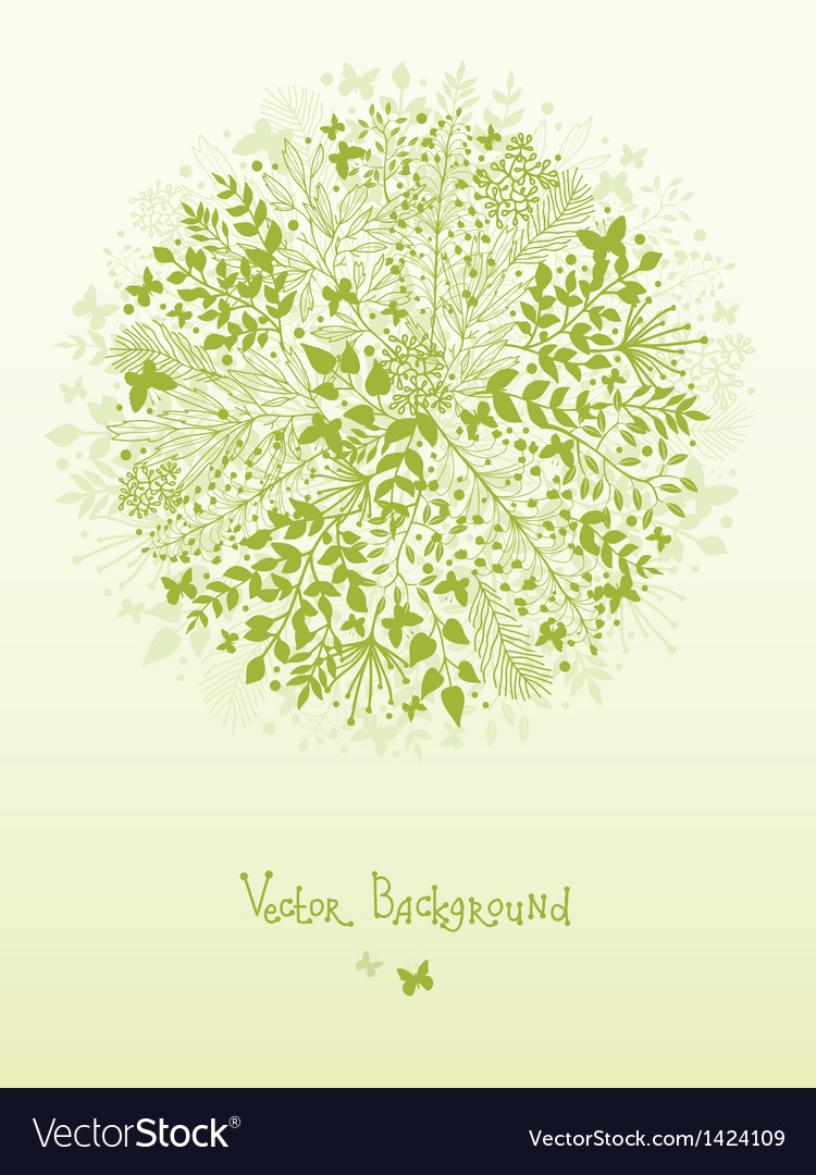 Green nature circle design element background vector