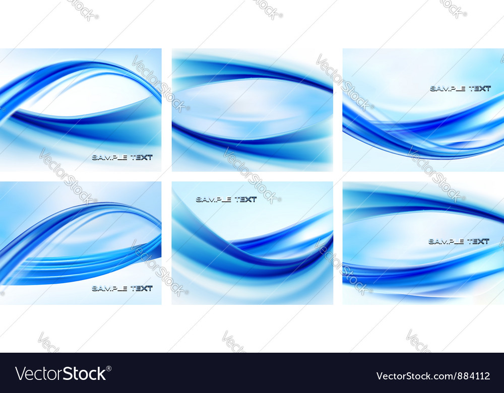 Swirl wave backgrounds vector