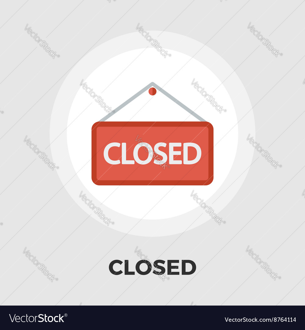Closed flat icon vector