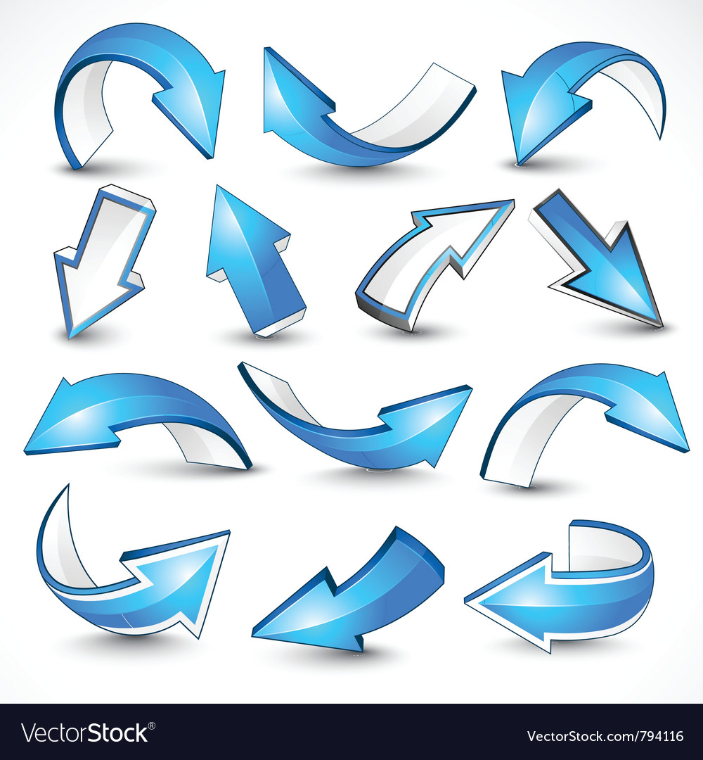 Blue arrows vector