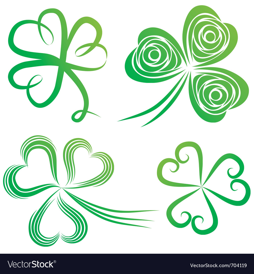 Green shamrocks vector