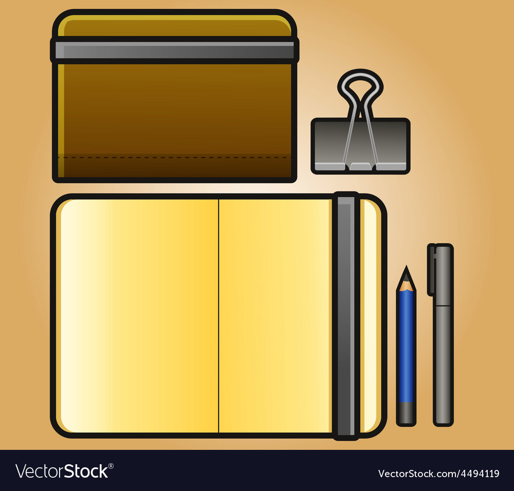Portrait sketchbook vector