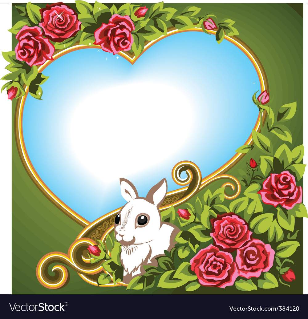 Heart rose vector
