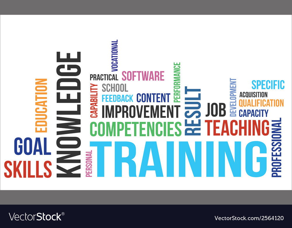 Word cloud training vector
