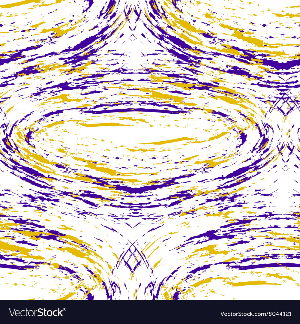 Pattern with purple and yellow stains vector