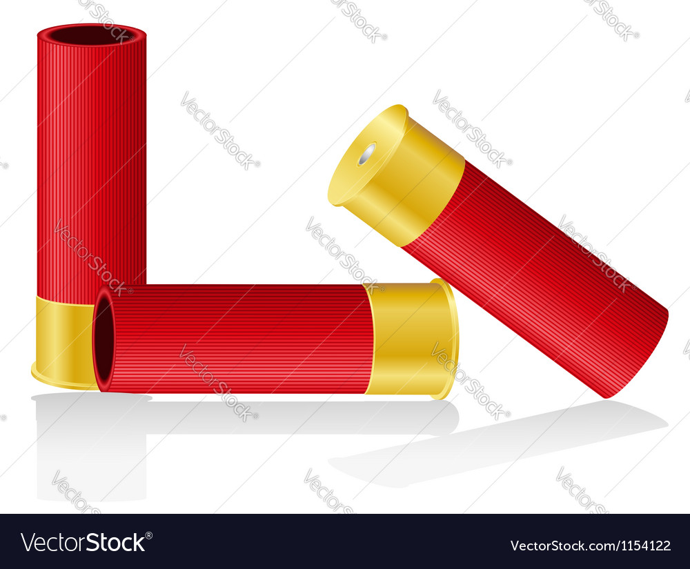 Shotgun shells 01 vector