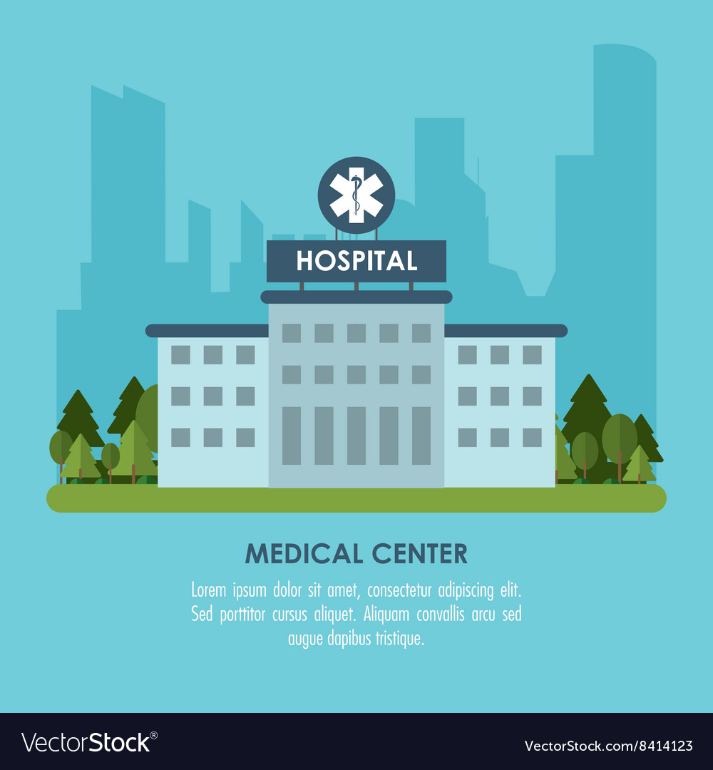 Medical center vector