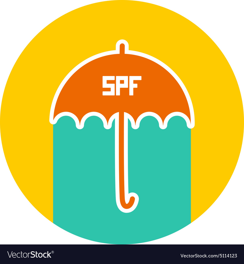 Summer vacation beach round card design umbrella vector