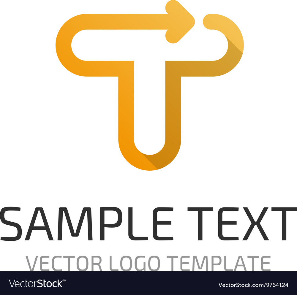 Logo template t vector