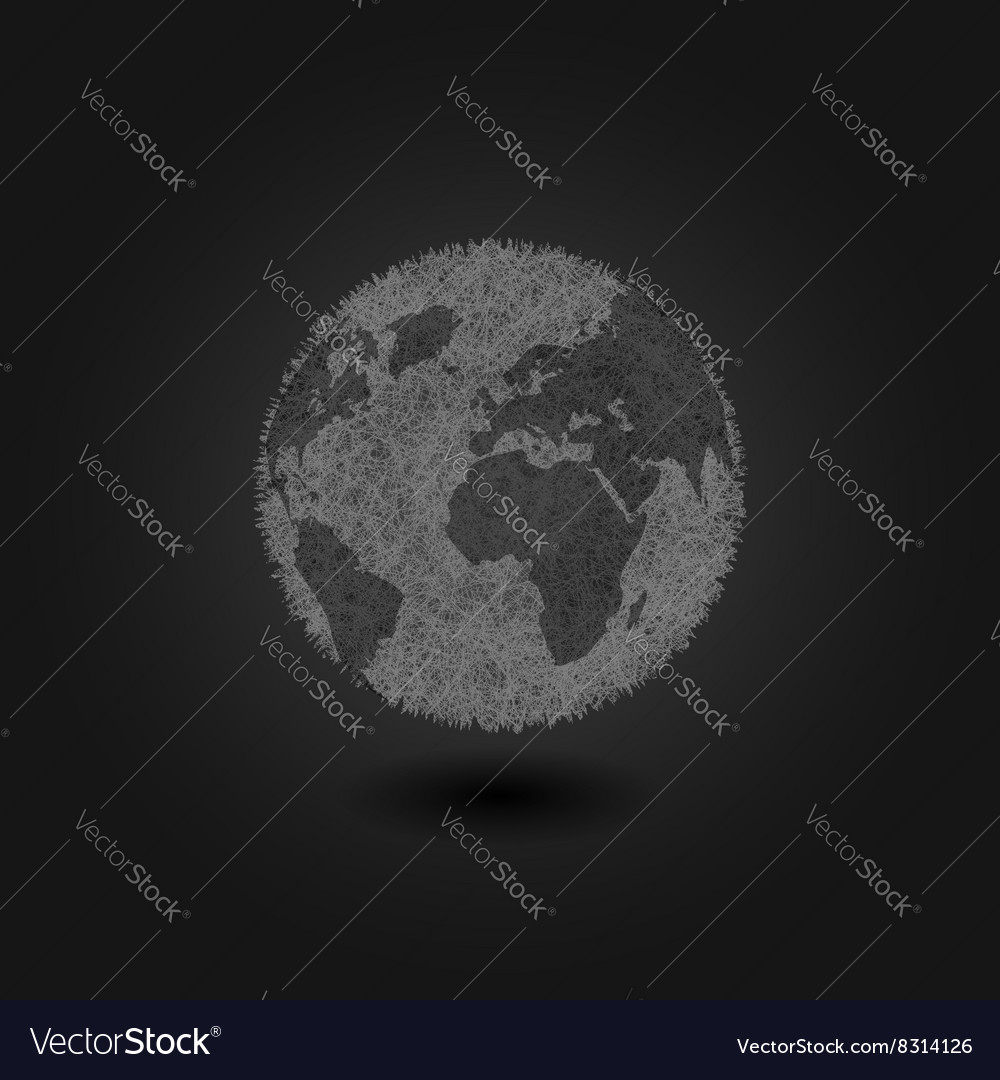 Pollution environment planet earth concept vector