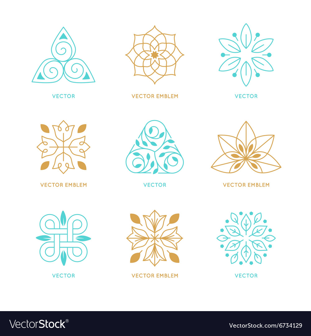 Set of logo design templates and symbols vector