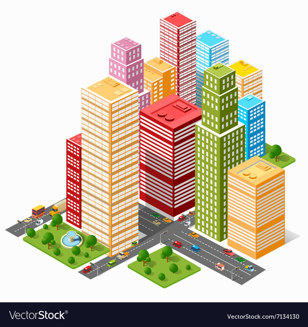 City skyscraper vector