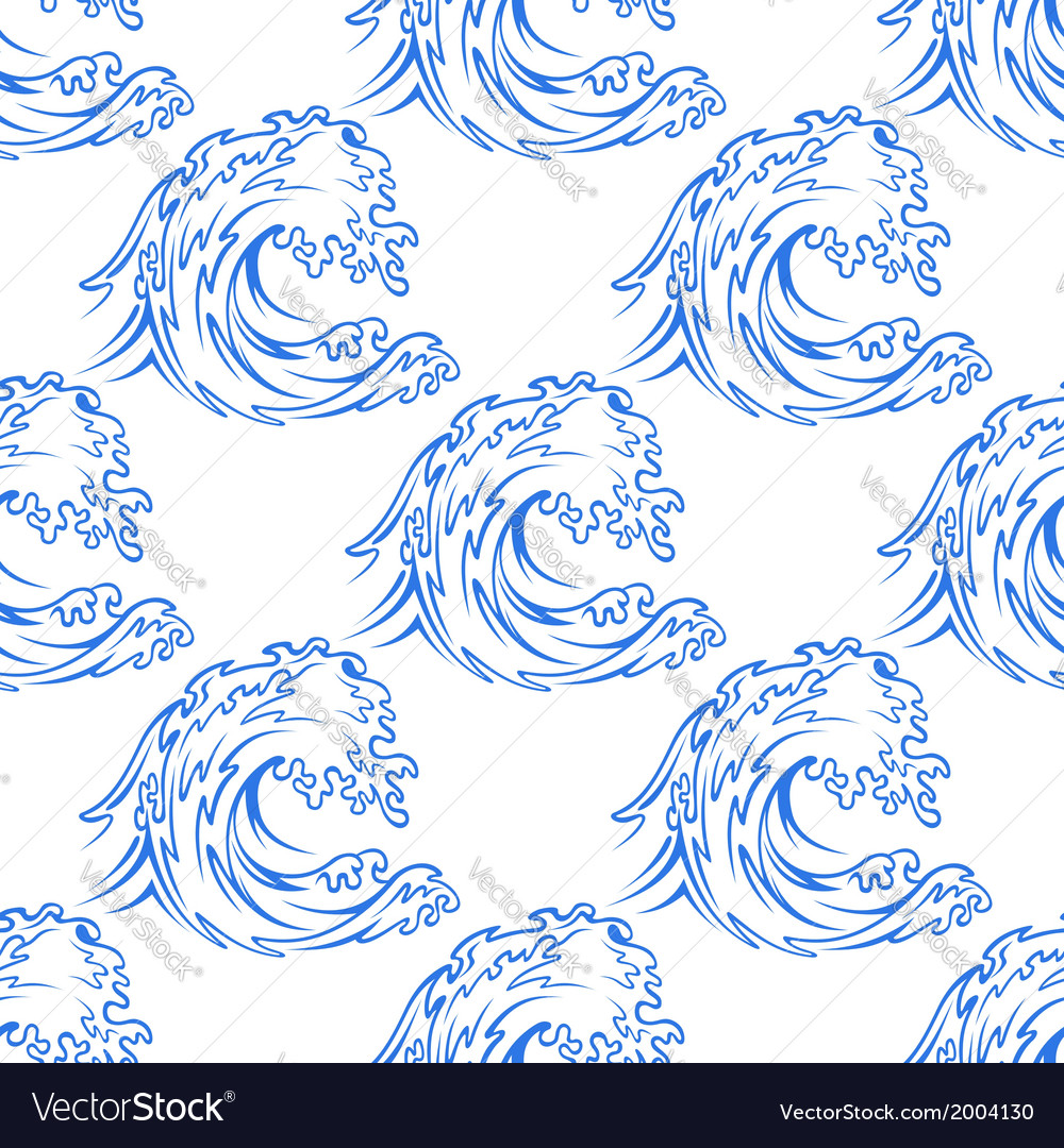 Dainty outline pattern of a curling wave vector