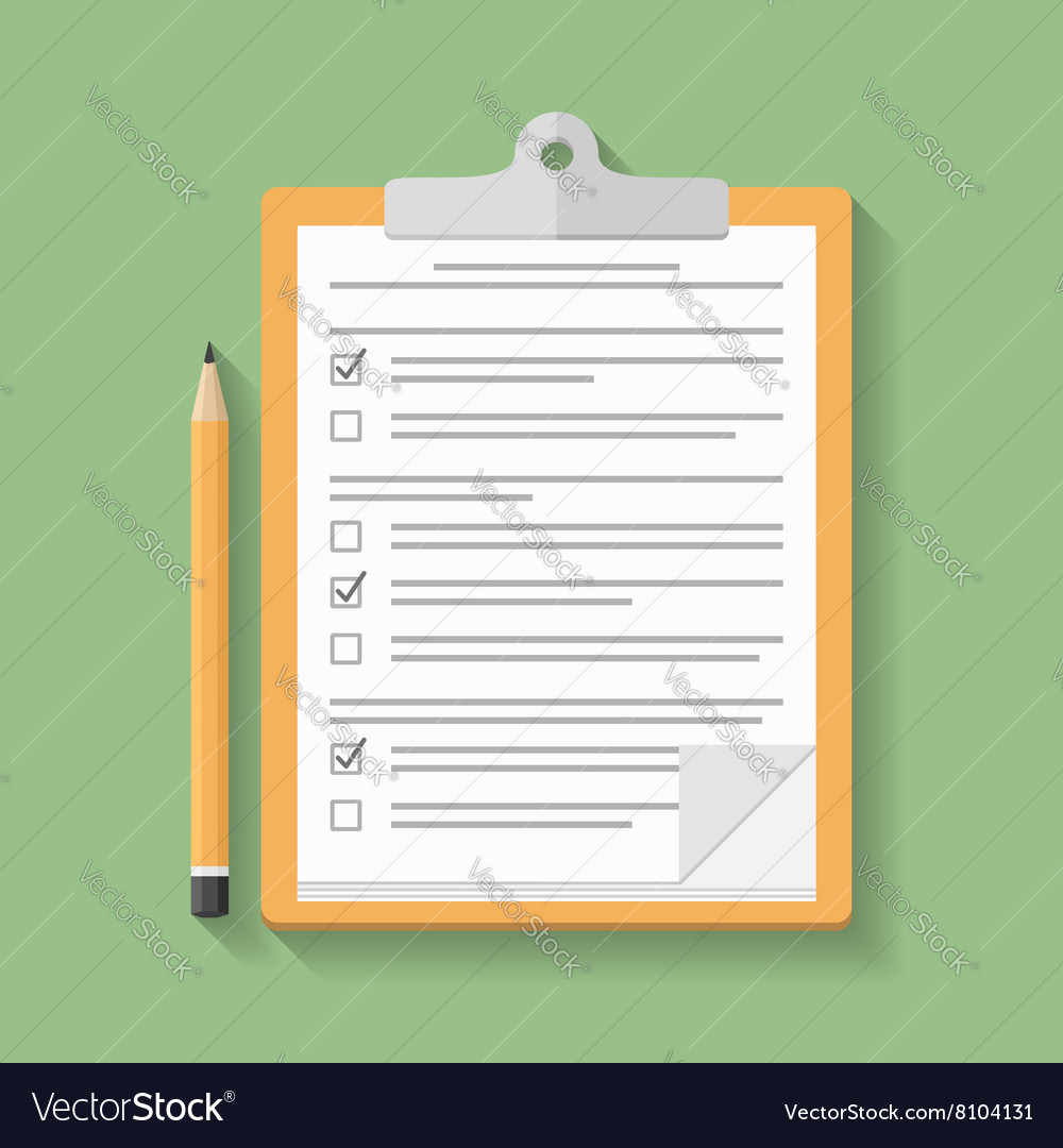 Clipboard with survey vector