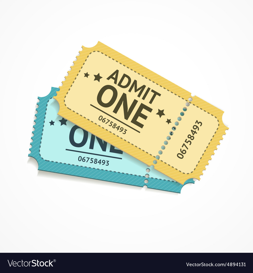 Two colour ticket vector