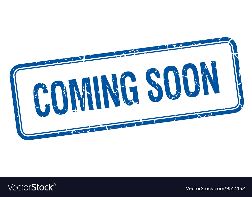 Coming soon blue square grungy vintage isolated vector