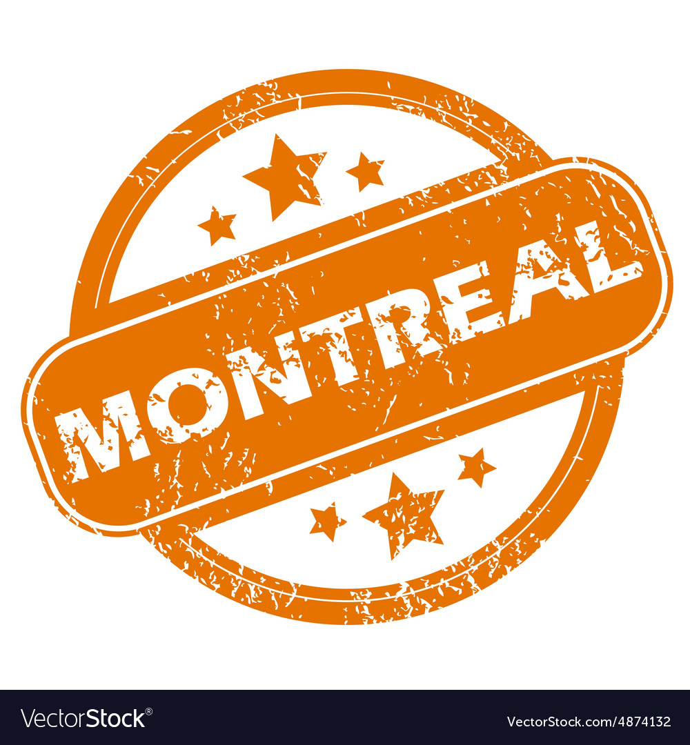 Montreal round stamp vector