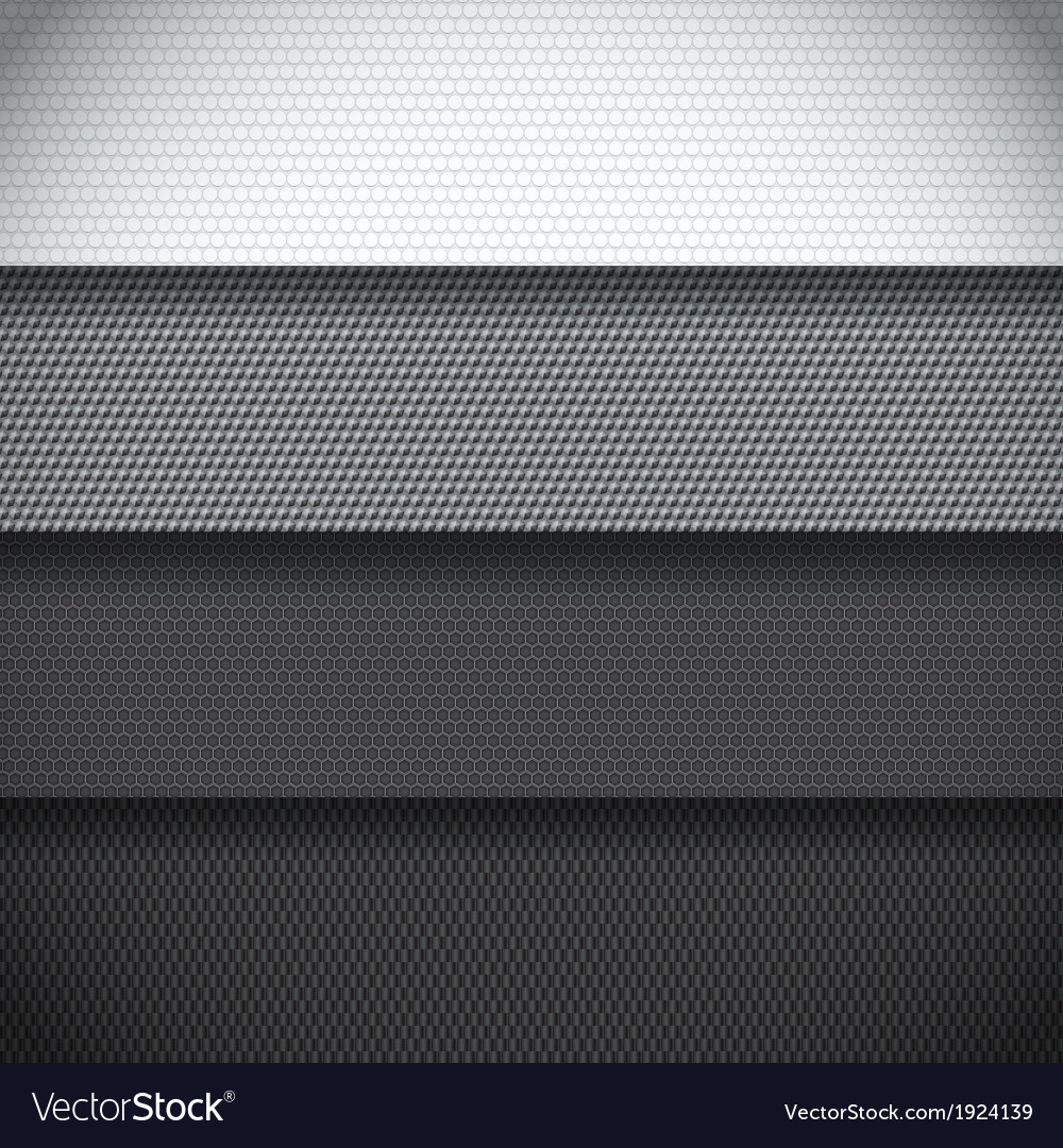 Background of four carbon fiber patterns vector