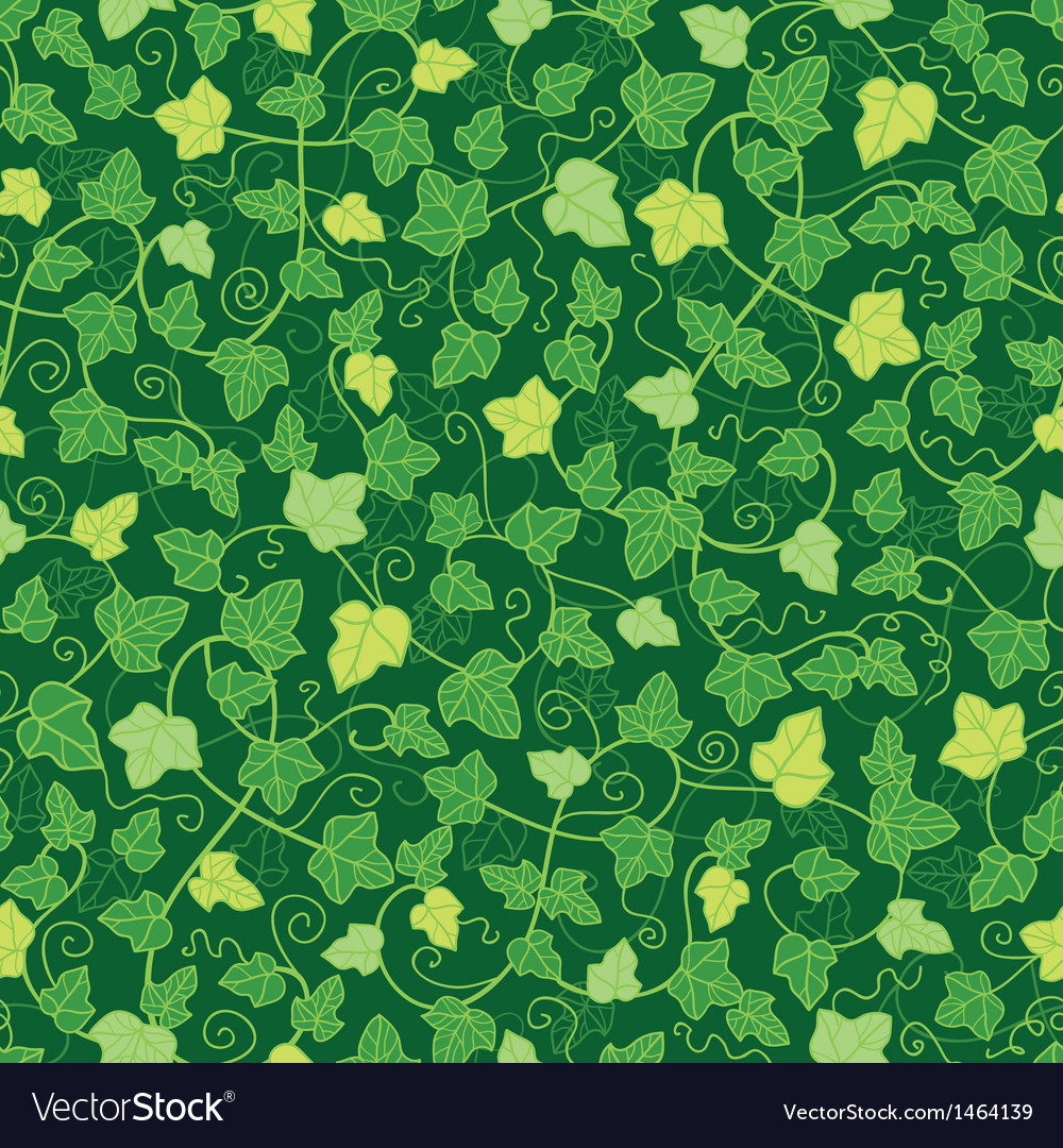 Green ivy plants seamless pattern background vector