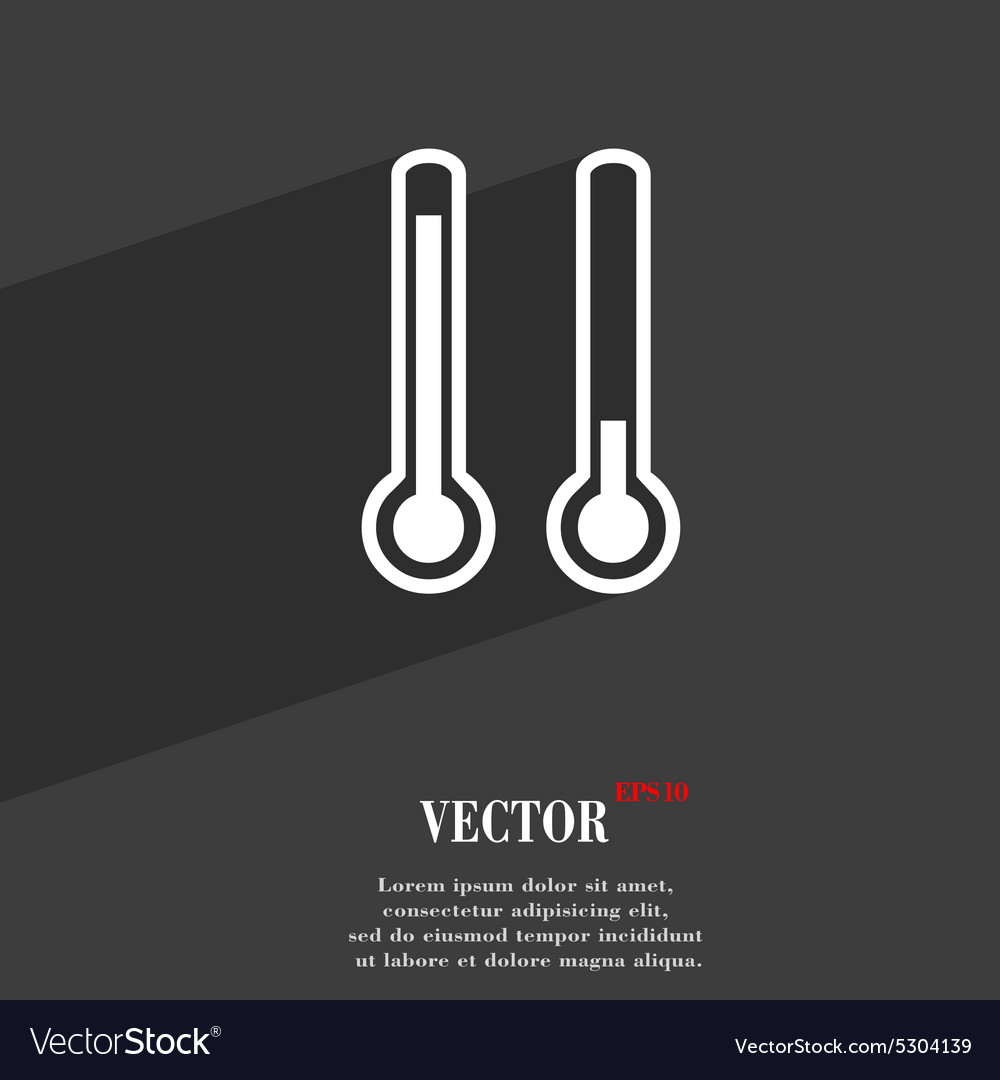 Mometer temperature icon symbol flat modern vector