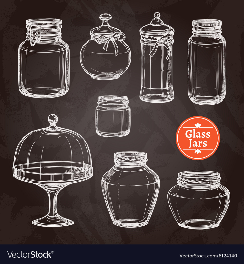 Big jar set vector