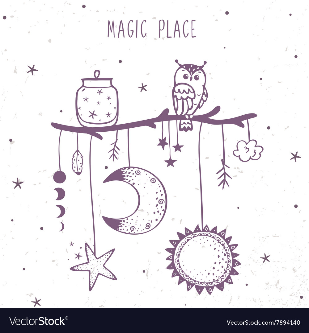 Magic place ethnic vector
