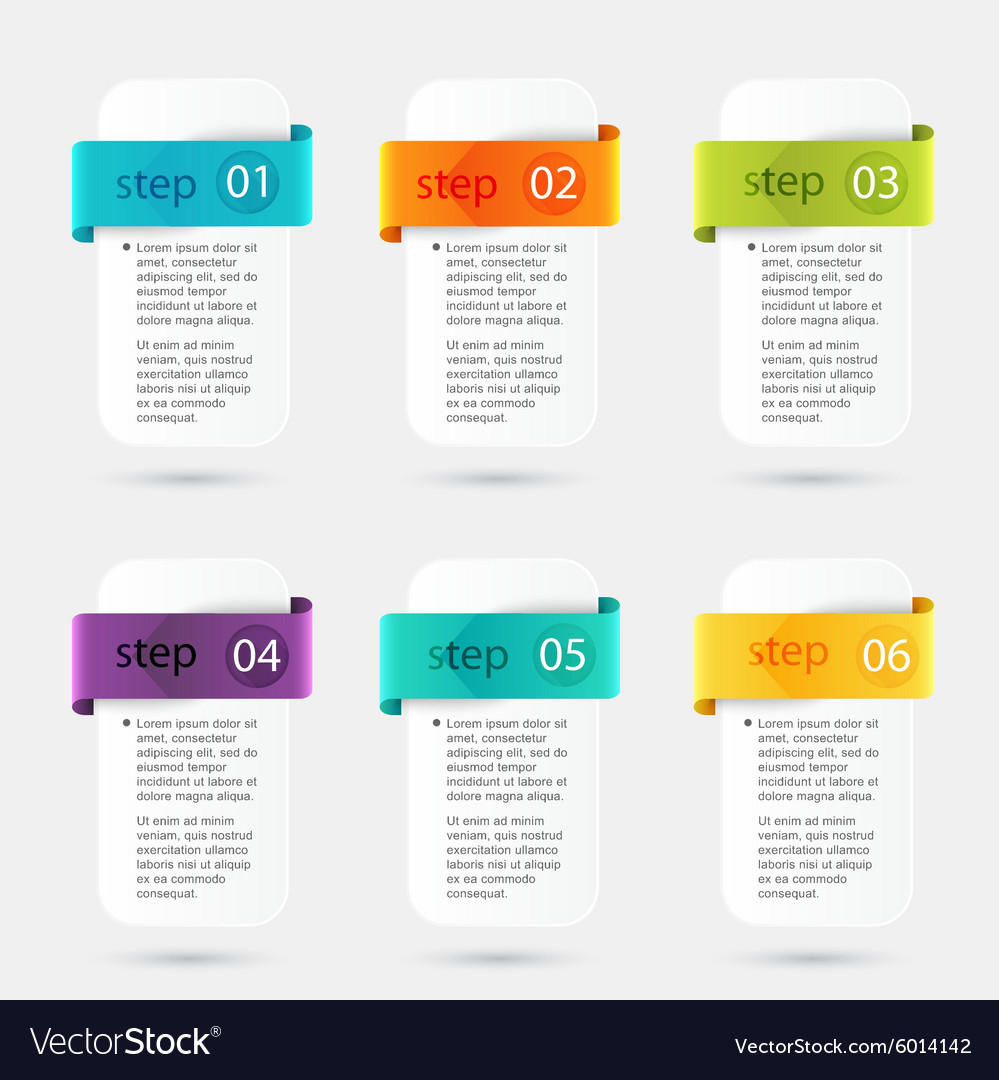 Colorful info graphics for your business vector