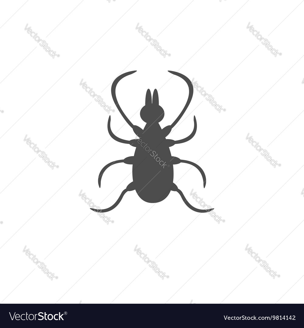 Tick insect silhouette mite deer ticks icon vector