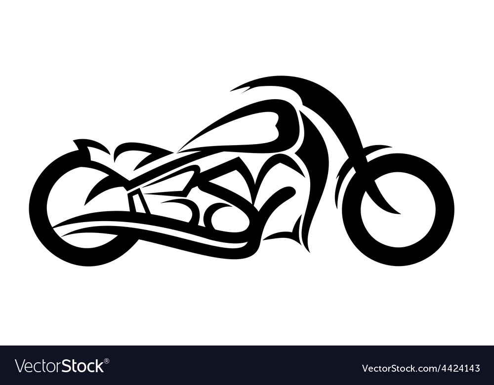 Motorcycle sketch vector
