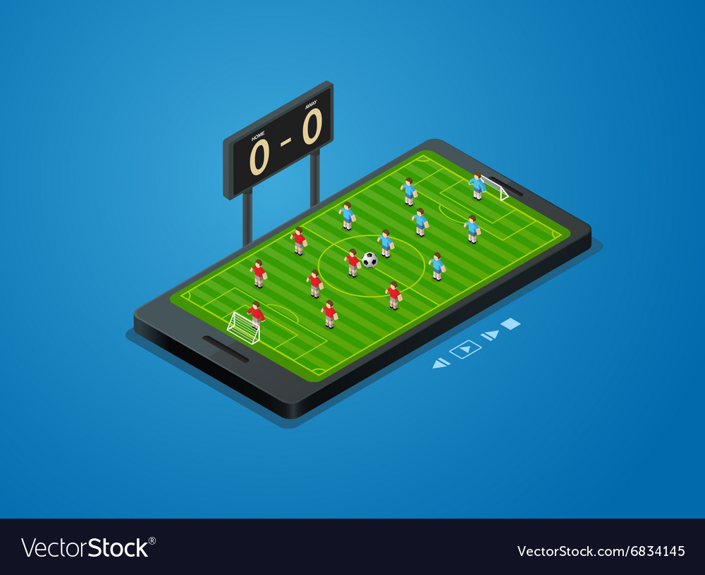 Football soccer live online vector