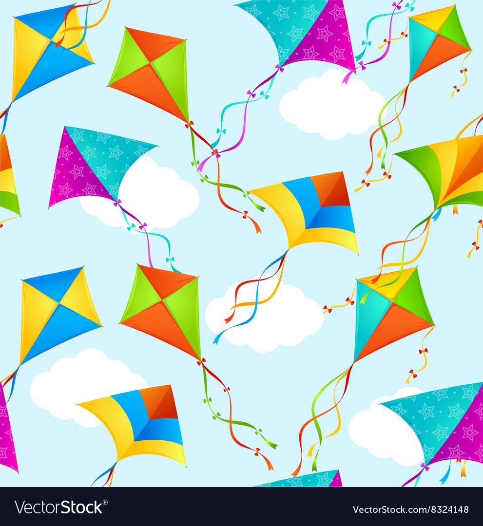 Kite background pattern vector