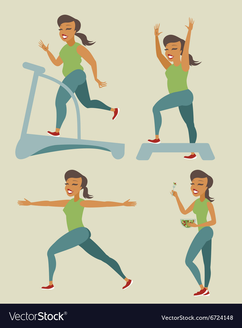 Slimming woman vector