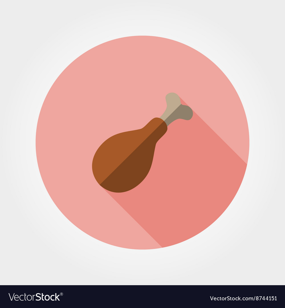 Chicken drumstick icon vector